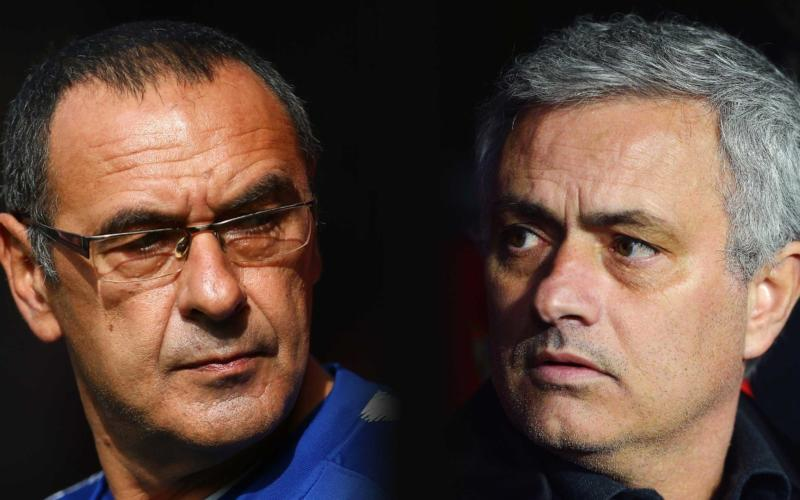Sarri Mourinho FOTO The Independent