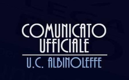 Albinoleffe logo comunicato