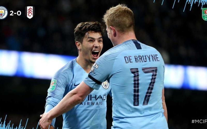 Brahim Diaz gol vs Fulham Foto Manchester City