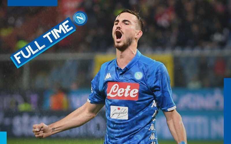 Fabian Ruiz vs Genoa Foto Napoli Twitter