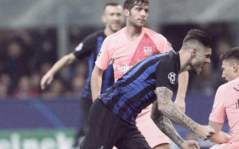 Icardi vs Barcellona Foto Inter Twitter