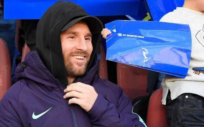 Messi tribuna vs Real Foto Marca