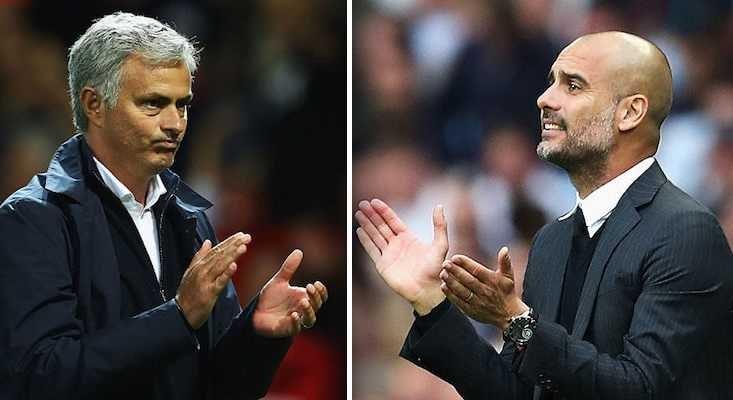 Mourinho e Guardiola Foto Post