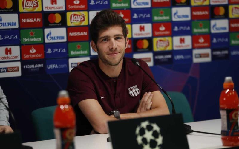 Sergi Roberto conferenza Barcellona Twitter