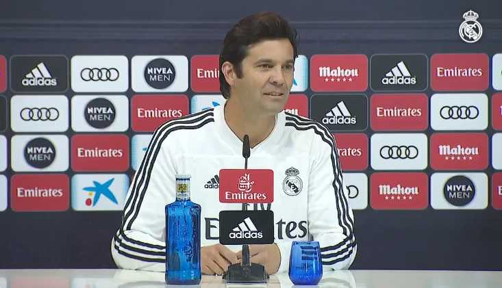 Solari conferenza Real Madrid Twitter