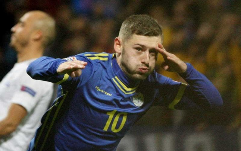 Zeneli Foto Twitter Kosovan Football