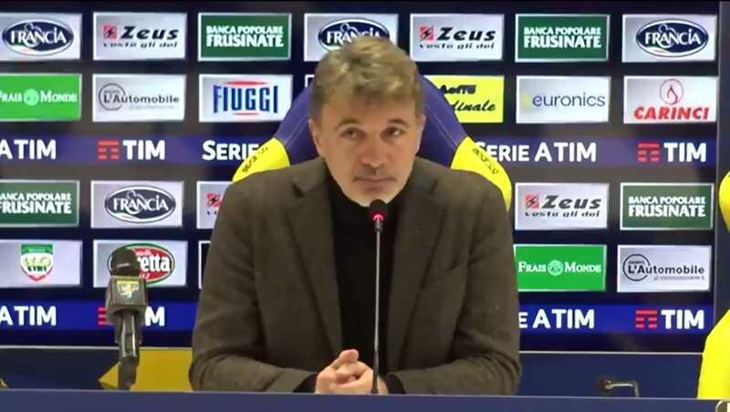 Marco Baroni screenshot Facebook Frosinone