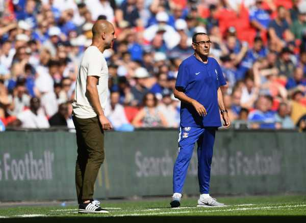 Guardiola e Sarri City vs Chelsea Foto sport360com