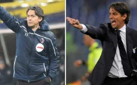 Inzaghi Pippo e Simone Bologna e Lazio Twitter