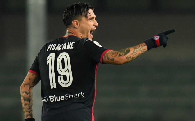 Pisacane gol vs Chievo Foto Cagliari Twitter