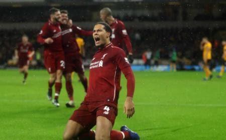 Van Dijk gol Liverpool Twitter