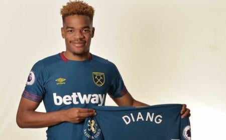ROMFORD, ENGLAND - JANUARY 18:  Grady Diangana of West Ham United signs a contract extension with West Ham United untill 2025 at Rush Green on January 18, 2019 in Romford, England.  (Photo by Arfa Griffiths/West Ham United via Getty Images) *** Local Caption *** Grady Diangana
