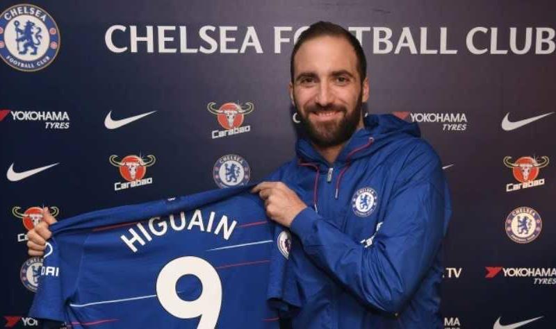 Higuain maglia 9 Chelsea Twitter