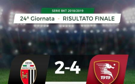 Ascoli Salernitana 2-4