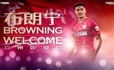 Browning annuncio Guangzhou Evergrande Instagram
