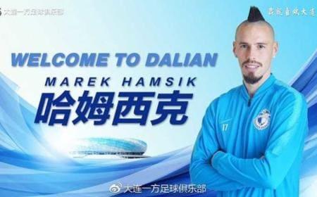 Hamsik annuncio Dalian Instagram