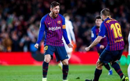 Messi e Jordi Alba vs Valencia Foto Barcellona Twitter