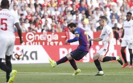 Messi vs Siviglia Foto Barcellona Twitter