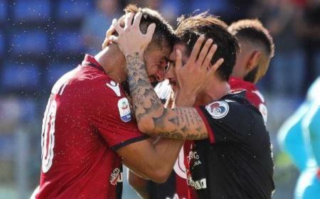 Pavoletti esultanza Cagliari Twitter