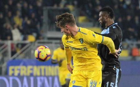 Pinamonti vs Lazio Foto Frosinone Twitter