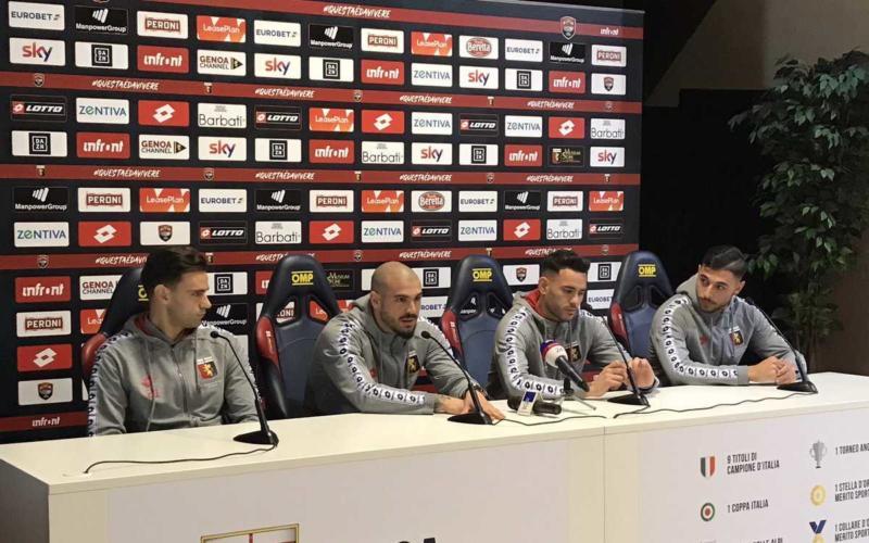 Sturaro, Sanabria, Radovanovic e Pezzella presentazione Genoa Twitter