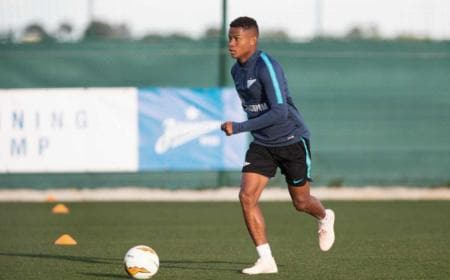 Wilmar Barrios training Zenit Twitter
