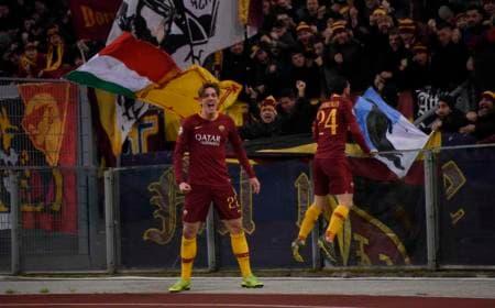 Zaniolo e Florenzi vs Porto Foto Roma Twitter