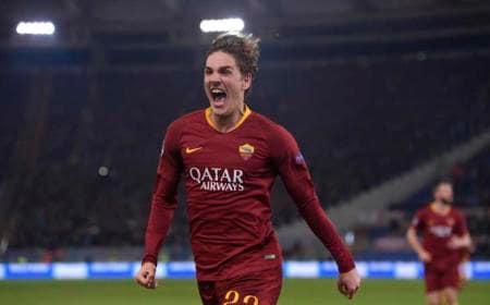 Zaniolo gol vs Porto Foto Roma Twitter
