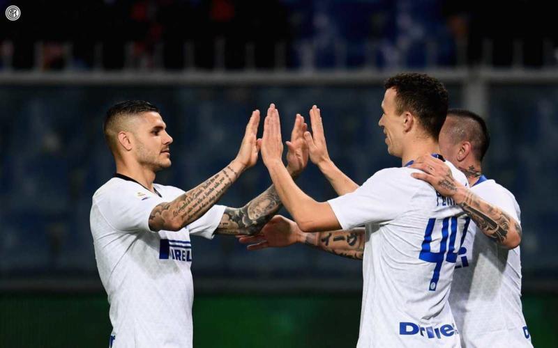Icardi - Perisic Twitter uff Inter