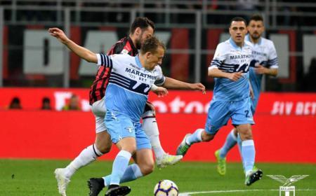 Lucas Leiva vs Milan foto Twitter uff Lazio