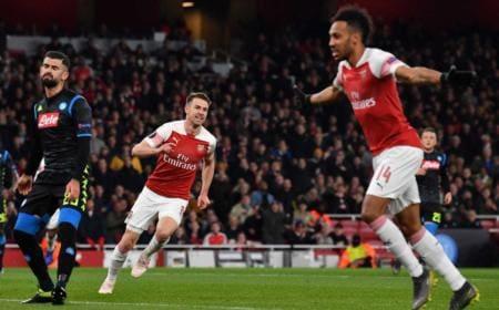 Ramsey Arsenal vs Napoli foto twitter Europa League