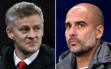 Solskjaer Guardiola FOTO Manchester Evening News