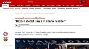 """Germania, la rassegna stampa. Kicker: """"Barça messo in angolo"""""""