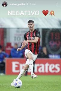 Milan |  Gabbia guarito dal Covid  L'annuncio del difensore su Instagram