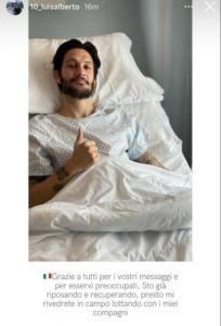 """Luis Alberto rassicura: """"Sto recuperando, presto mi rivedrete in campo"""""""