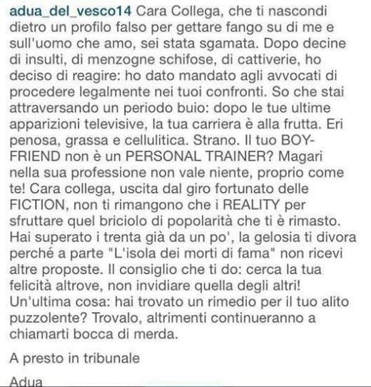 """Online un post allarmante del 2016 di Adua Del Vesco, Selvaggia Lucarelli interviene: """"Obbligata a scriverlo?"""""""