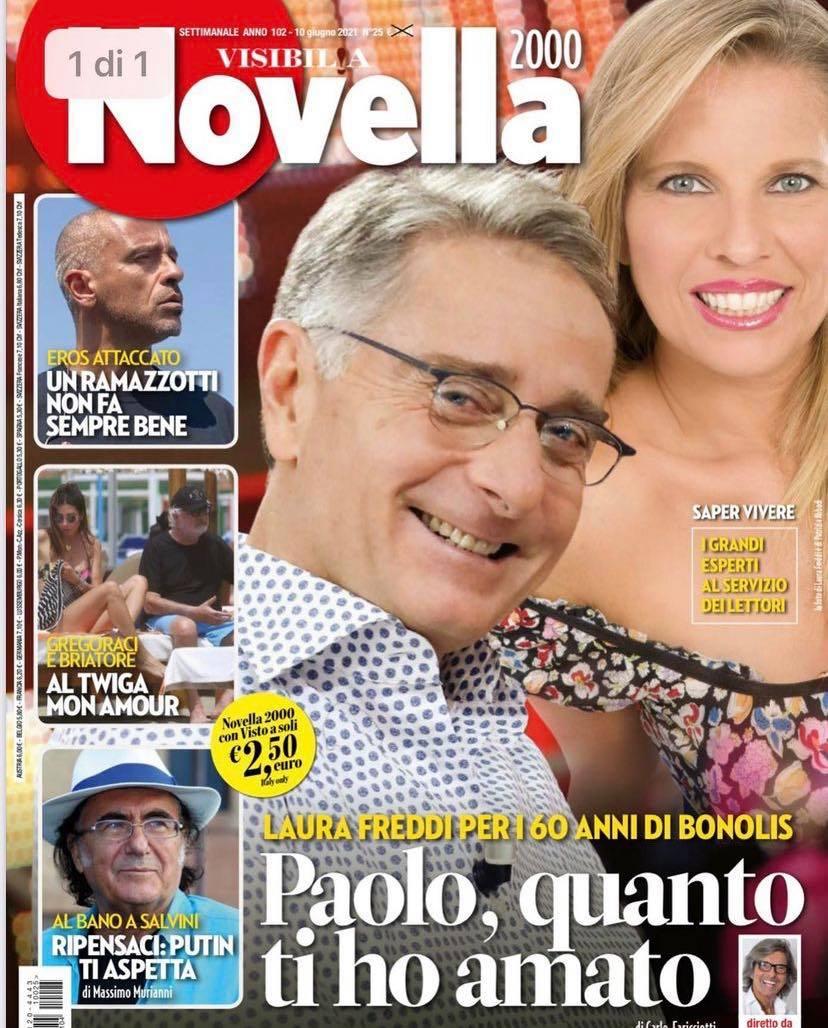 Paolo Bonolis compie 60 anni e Novella 2000 intervista la sua storica ex, la reazione di Sonia Bruganelli