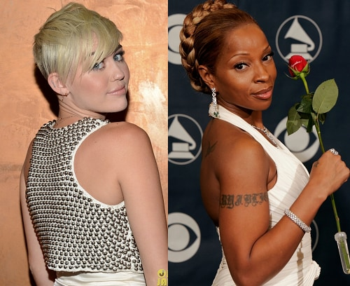 Miley Cyrus Mary J Blige