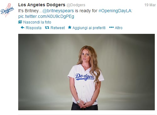 Dodgers Britney Spears