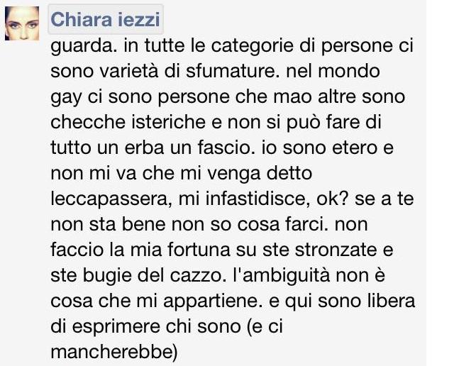 Chiara Iezzi Lesbica 4