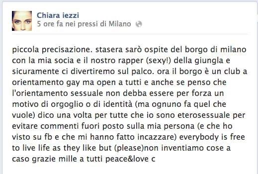 Chiara Iezzi Lesbica