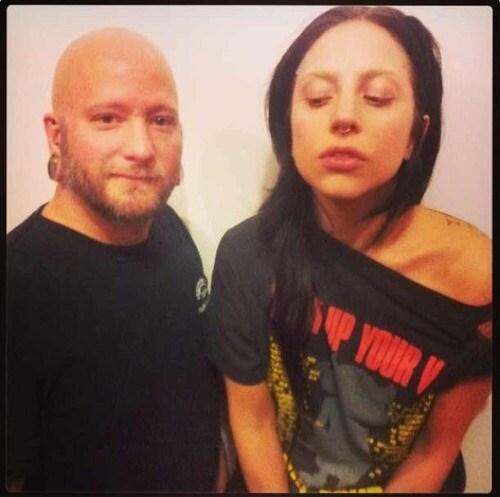 Lady Gaga Piercing setto