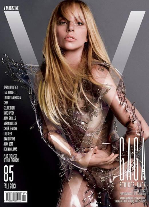 Lady Gaga V Magazine Bionda 2