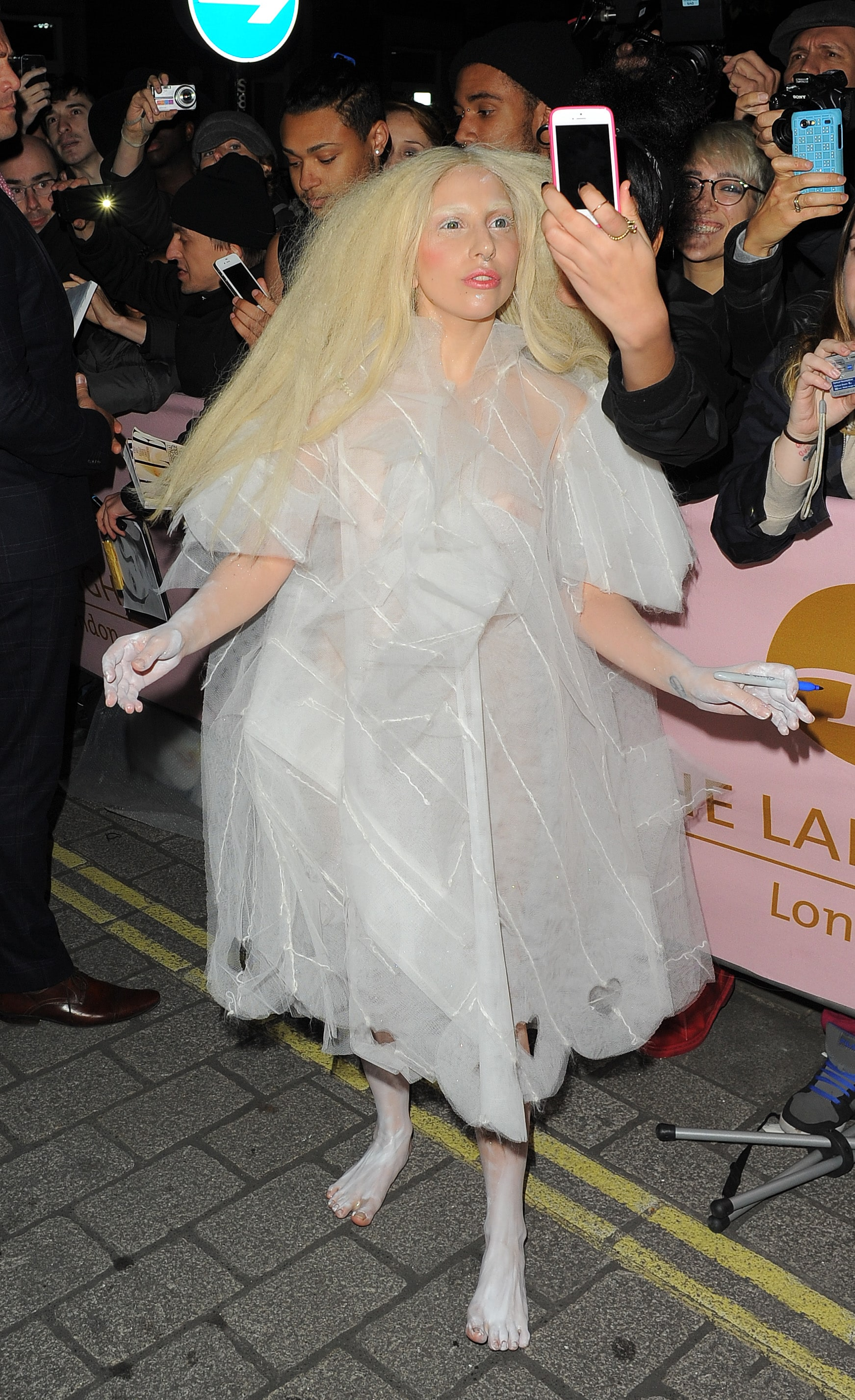 Lady Gaga Arrives at London Heathrow