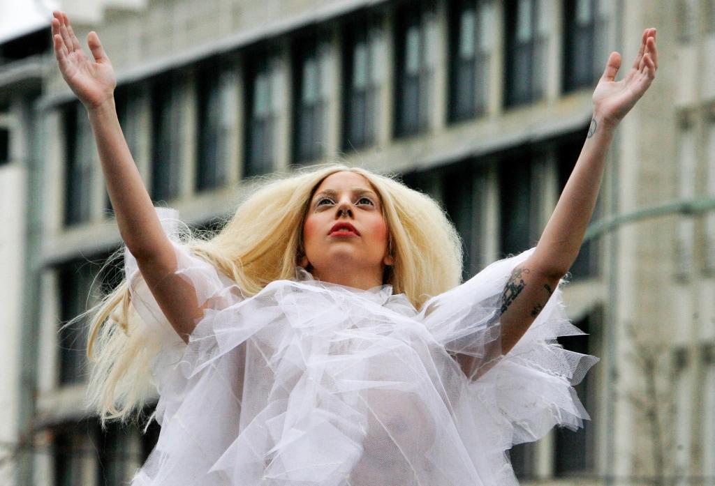 Lady Gaga Goes Barefoot & Braless In Berlin