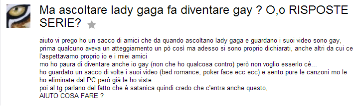 Sono Gay Yahoo