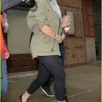 Christina Aguilera and Matt Rutler hold hands while coming out of a hotel in NYC