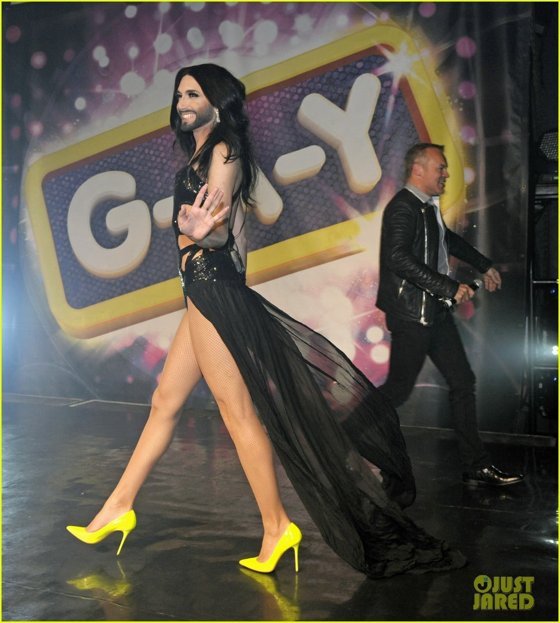 Conchita Wurst performs live at G-A-Y