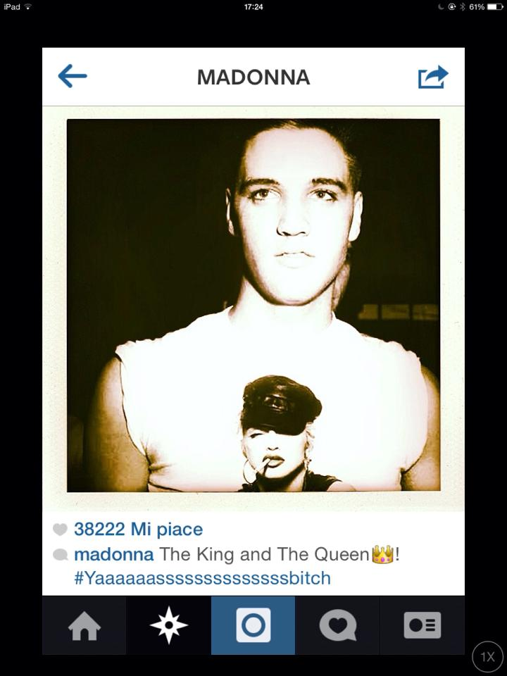 madonna instagram elvis queen king bitch