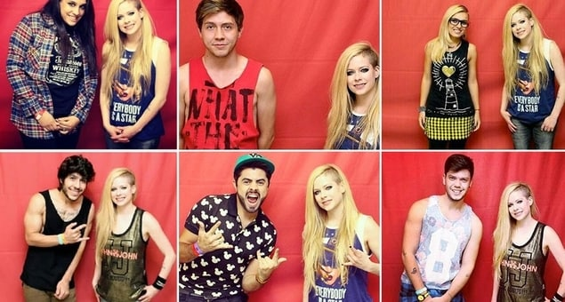 avril lavigne meet and greet m&g